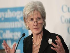 "U.S. Health and Human Services Secretary Kathleen Sebelius said the health care law is making a ""big difference."""