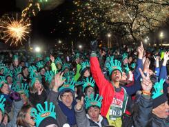 Making a run for it:  Some 5,000 participants are expected for the annual Emerald Nuts Midnight Run on Saturday in New York's Central Park., one of many healthful activities that will ring in 2012.