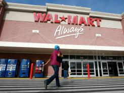 A Wal-Mart customer enters a store January 8, 2009 in Oakland, California. Wal-Mart has voluntarily pulled powdered newborn formula from 3000 of its stores December 22, 2011 after an infant died from a rare bacterial infection.