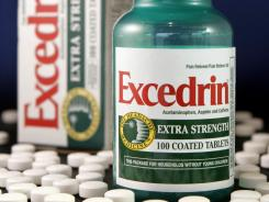 Excedrin and NoDoz products with expiration dates of Dec. 2014 or earlier were recalled.
