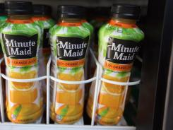 Coke announced it had found an unapproved fungicide in their orange juice and its competitors, the beverage company which makes Simply Orange and Minute Maid, wouldn't say which brands had shown the fungicide.