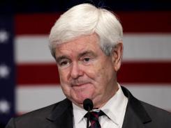 Republican presidential candidate, former House Speaker Newt Gingrich speaks in Orangeburg, S.C., Friday, Jan. 20, 2012.