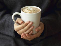 There's nothing like cozying up to a cup of hot chocolate.