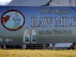 The Maryland health department has found bacteria in two bottles of raw milk produced at The Family Cow near Scotland, Pa.