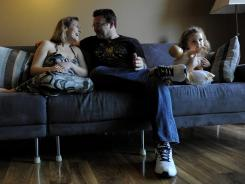 The babysitter canceled, so Eileen Nekava and husband Steven settled onto the couch with Abigail, 4, to watch a children's movie. The Nekavas, of Tampa Bay, Fla., try to set aside one night a week for time alone.