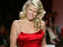 Christie Brinkley models a dress by Calvin Klein at the 2005 Red Dress Collection fashion show in New York. Brinkley is set to return to the runway Wednesday night for the Red Dress Collection fashion show.