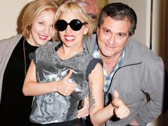 Lady Gaga with her mother Cynthia Germanotta and father Joe Germanotta.