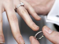 The federal report shows the median age at first marriage was 25.8 for women and 28.3 for men.