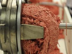 The USDA this year is contracted to buy 111.5 million pounds of ground beef for the National School Lunch Program.