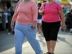 Overall, the 2009 data showed that 25.1% of adults are obese and 4.5% are extremely obese, for a total of 29.6% of people who were 30 or more pounds over a healthy weight.