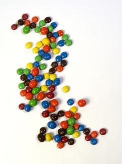 People who imagined eating 30 M&Ms, one at a time, ate fewer M&Ms in reality than those who didn't.