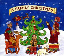 "The cover of the children's CD ""Putamayo Presents A Family Christmas."""