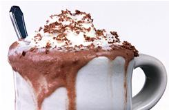Escape the cold, curl up by the fireplace this winter with a good cup of hot chocolate.
