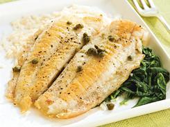 Flounder piccata with spinach - USATODAY.com