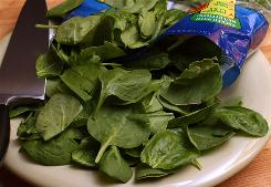 Baby spinach is a great way to work greens into your diet.