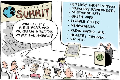Global warming Climate Summit comic