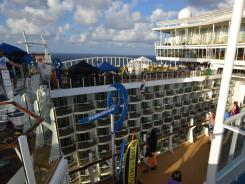 In general, the bigger the ship, the more it offers in terms of deck-top amusements. Royal Caribbean's Allure of the Seas has a zip line that takes riders across an open-air atrium nine decks above the sea. But if being around crowds isn't for you, reconsider this ship: it can carry more than 6,000 people.